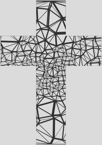 stained glass abstract cross