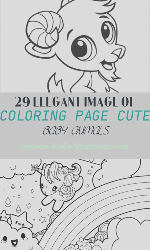 Coloring Page Cute Baby Animals Lovely Learning Friends Goat Baby Animal Coloring Printable From