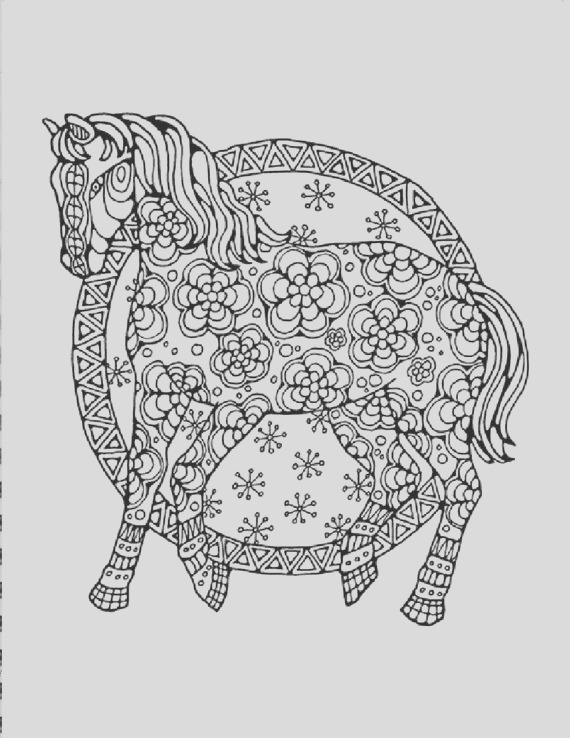 horse coloring page to print and color