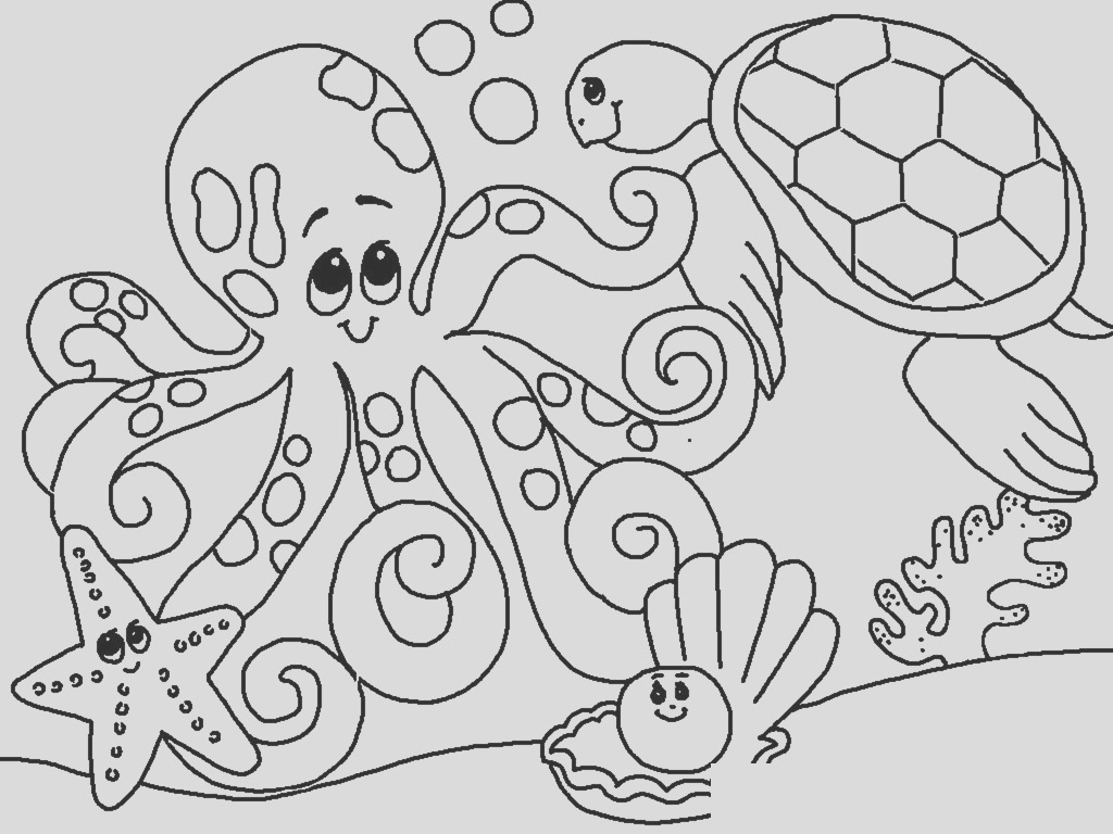 free under sea coloring pages to print