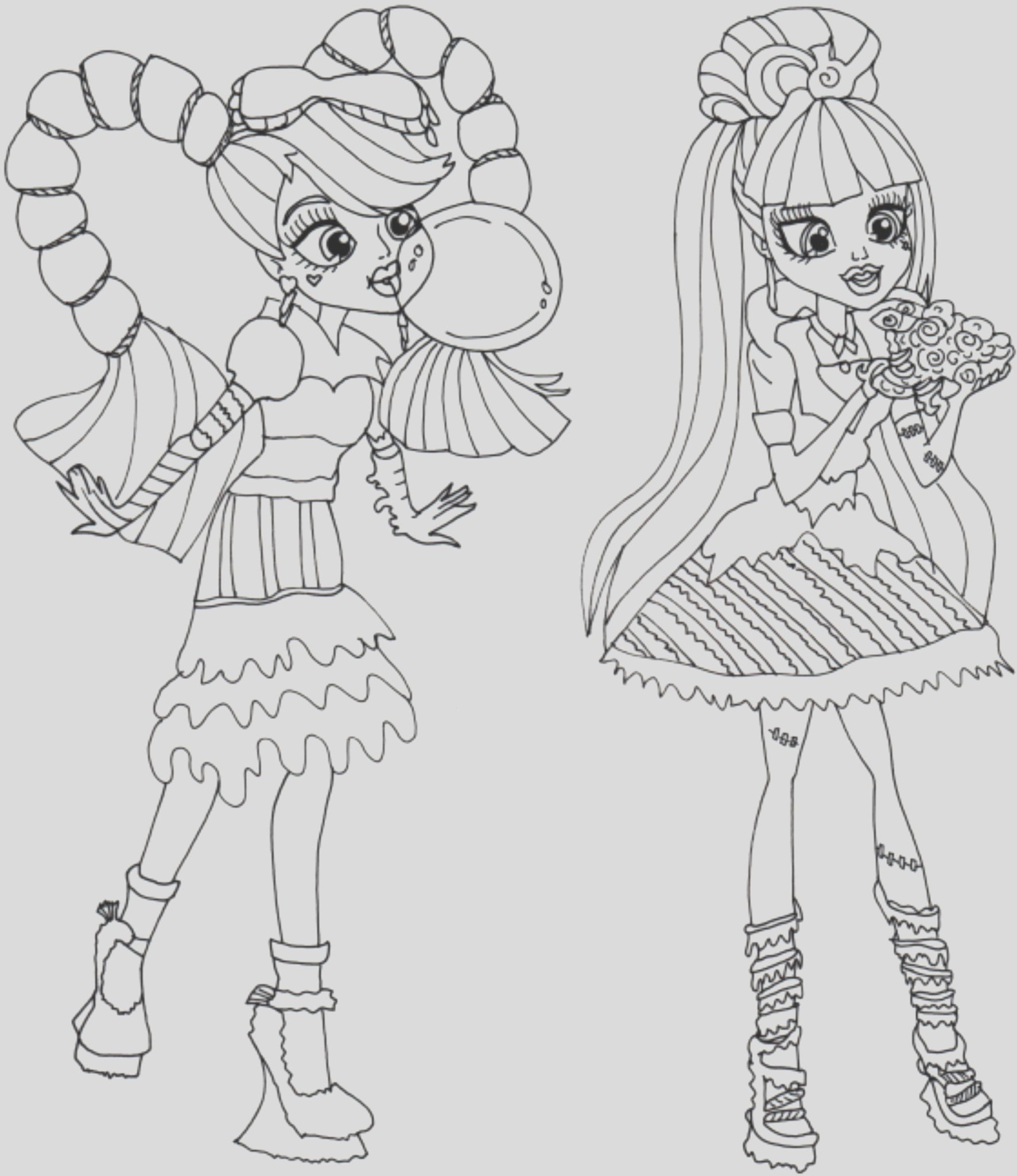monster high coloring pages printable kids