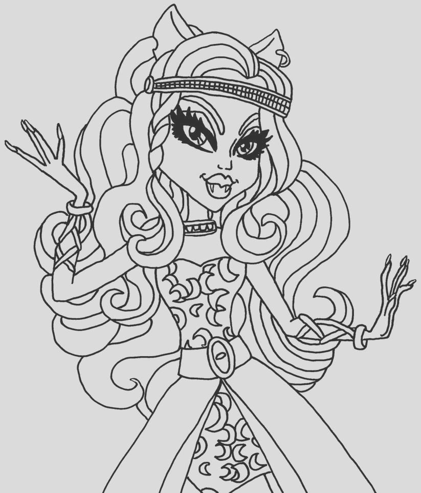 clawdeen wolf monster high coloring