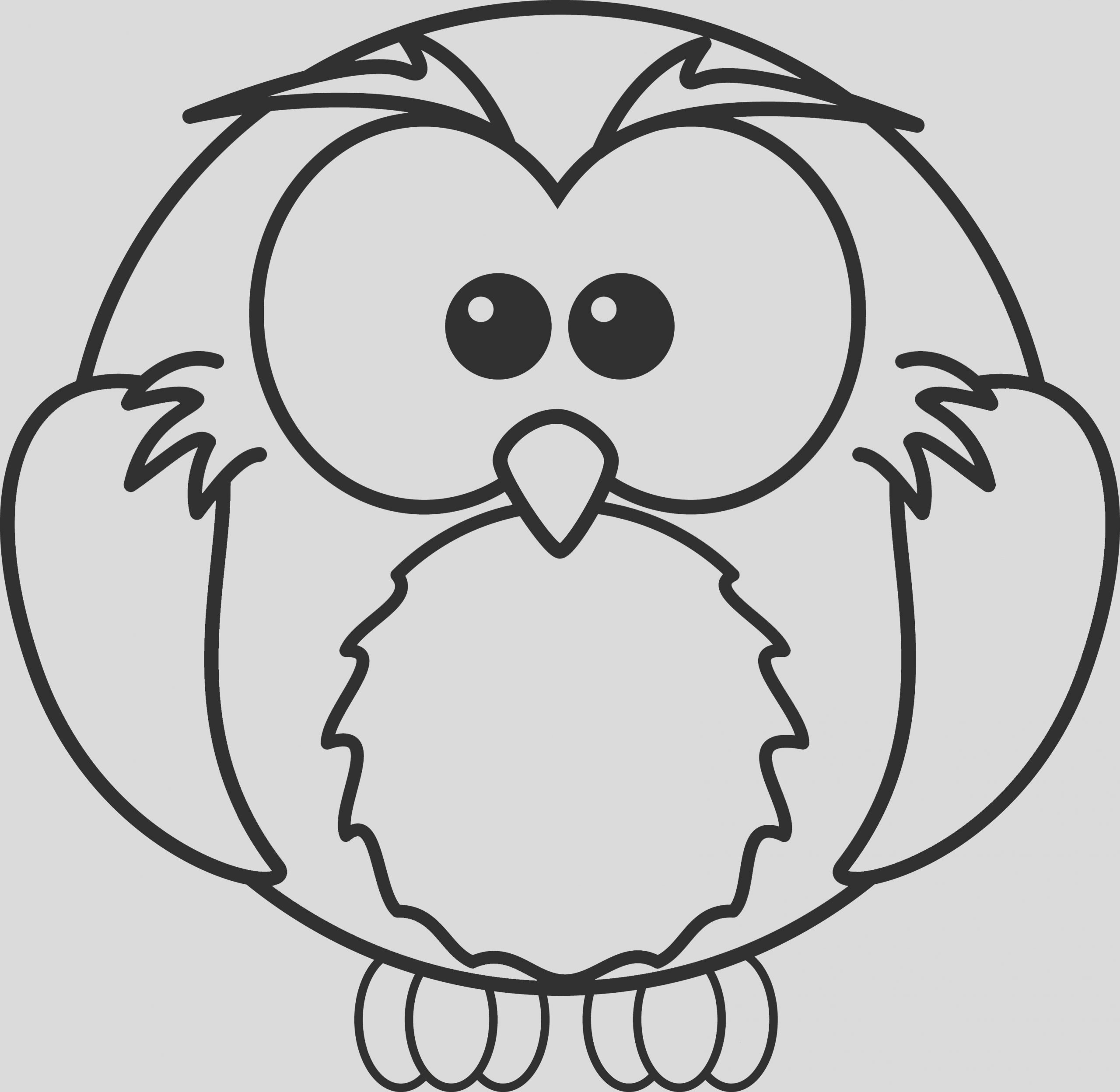 175 Free Cartoon Owl Coloring Page Clipart