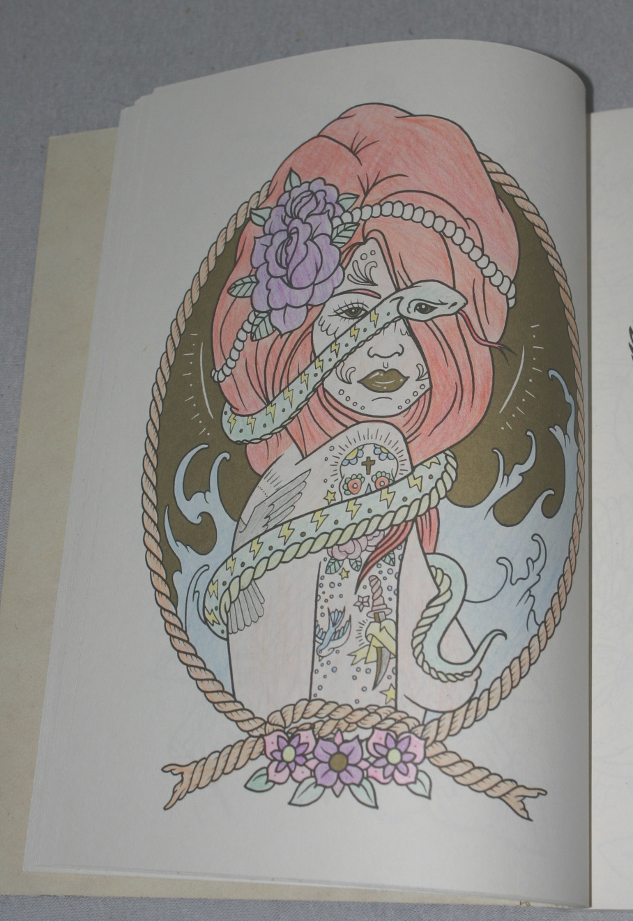 the tattoo colouring book by megamunden