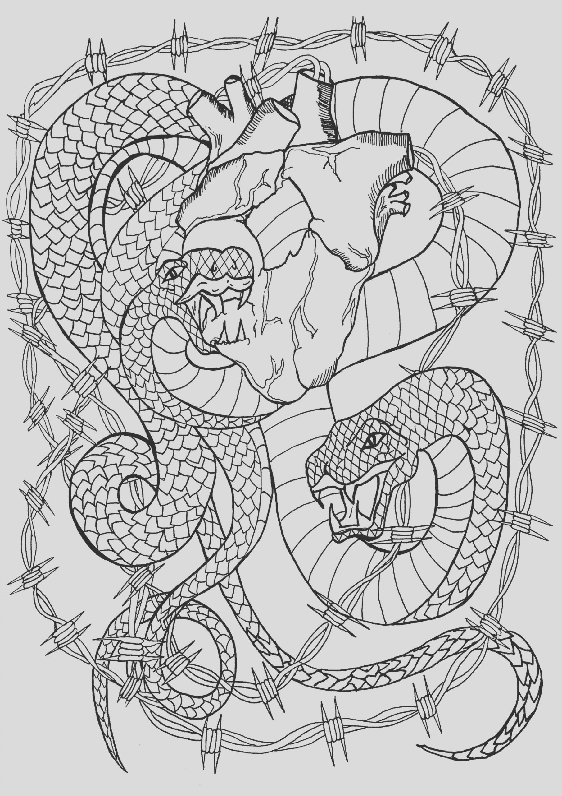 image=tatoo coloring snake heart 1