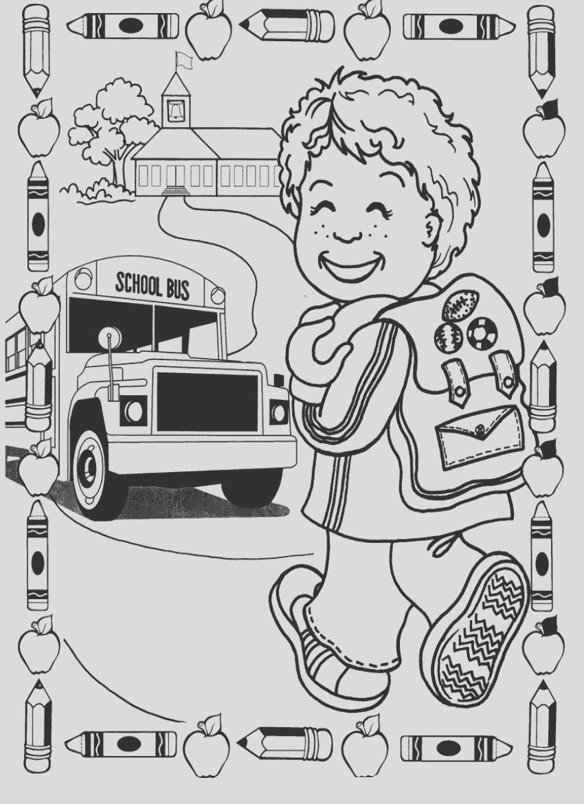 kindergarten coloring pages