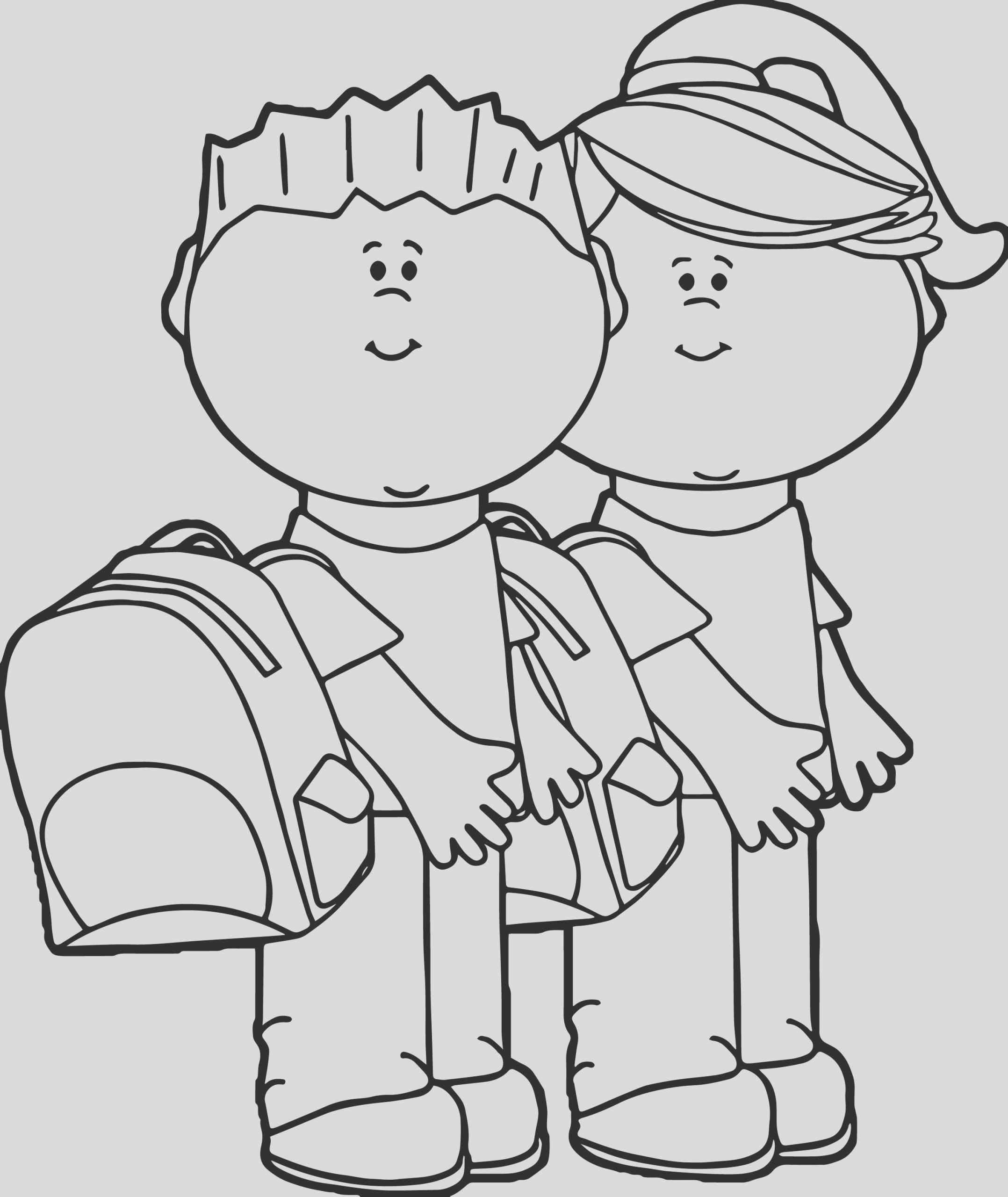 kids going school kids coloring page