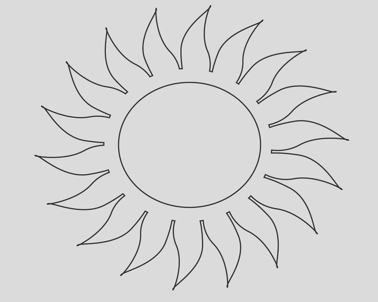 free sun coloring pages for your little ones