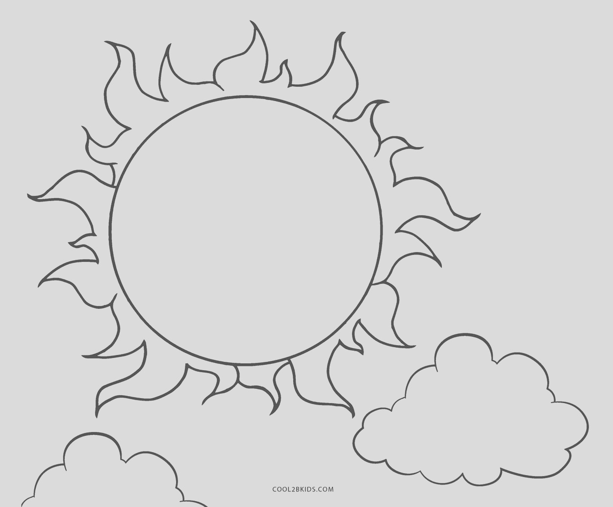 sun coloring pages