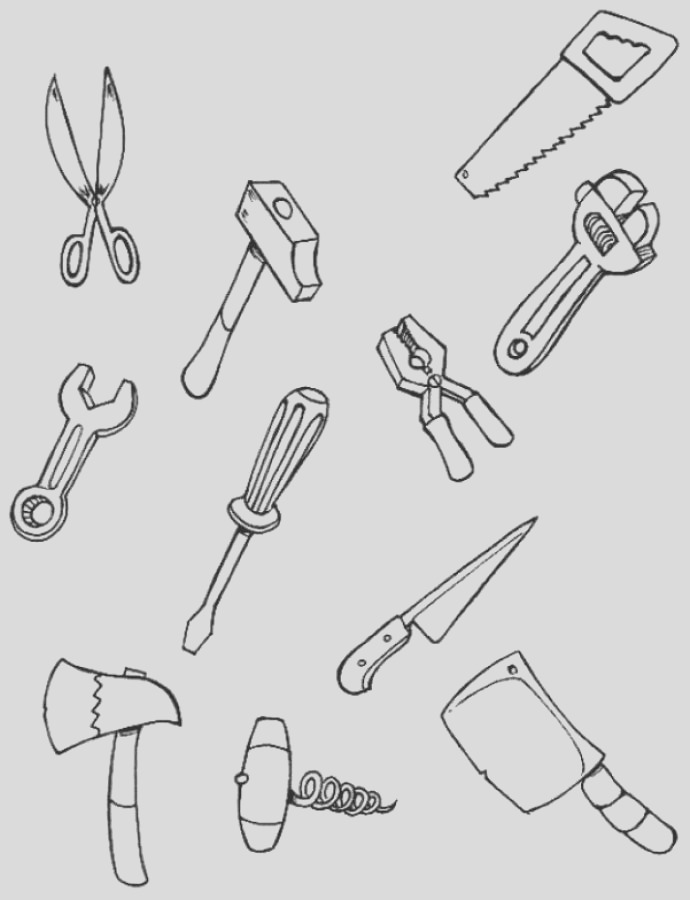 color each tool
