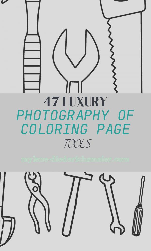 Coloring Page tools Lovely Hammer Saw and Wrench Coloring Page tools