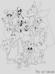 undertale coloring pages