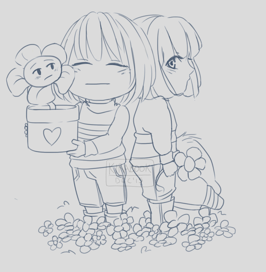 Undertale To her Forever No Color