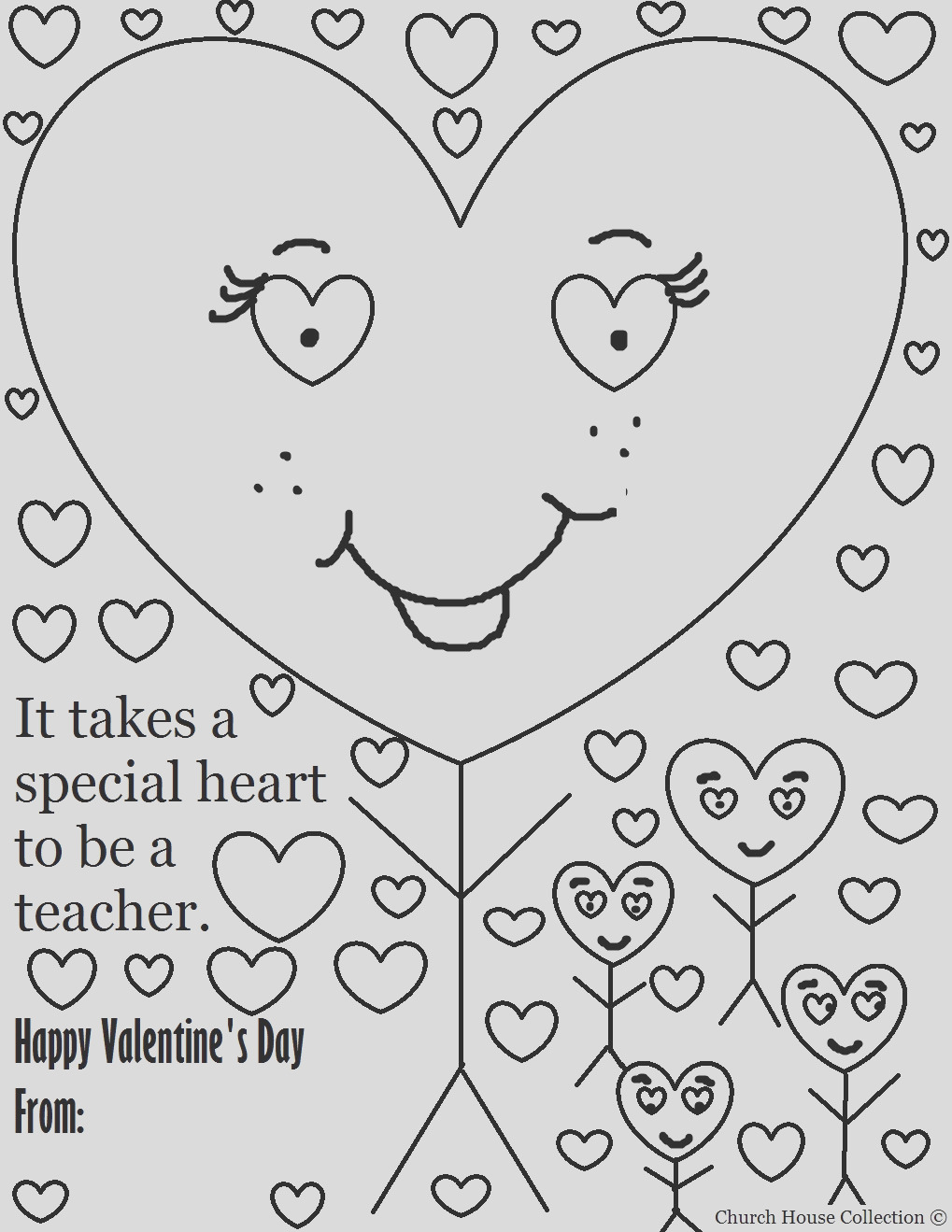 valentines day coloring page for