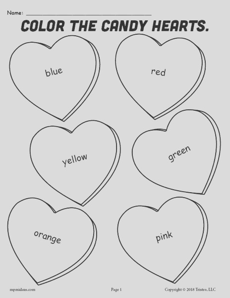 free printable candy hearts valentines day coloring page a7914