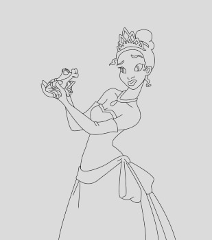 princess and frog coloring pages to