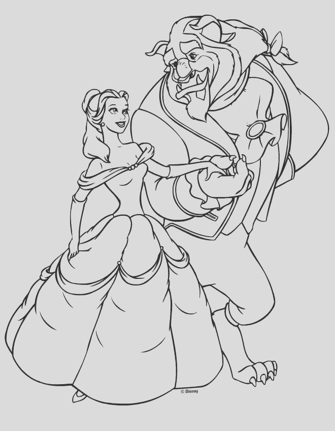 disney princess belle coloring pages to