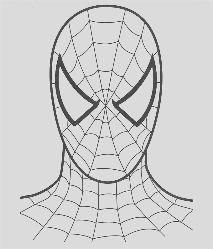 spiderman colouring page