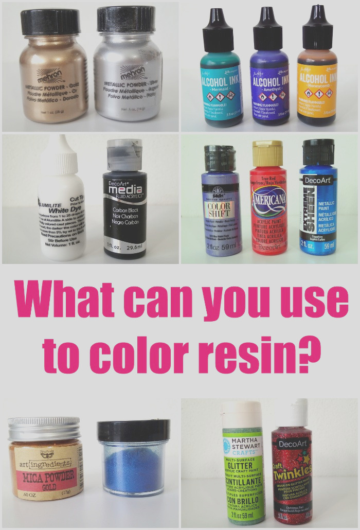 what can you use to color resin