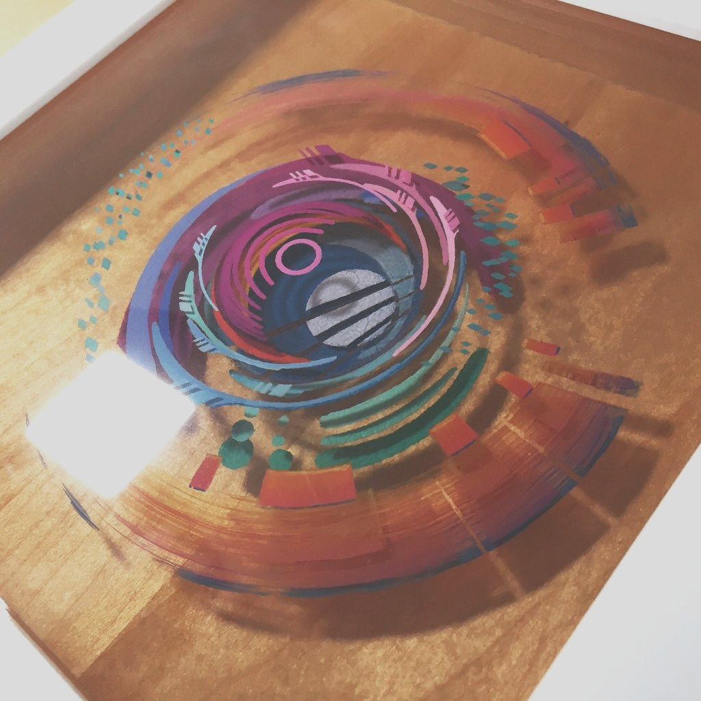 3D Painting Layered Resin and Acrylic Paint