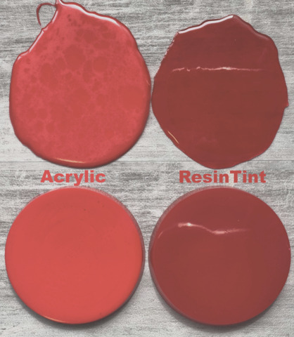 what can you use to color clear resin