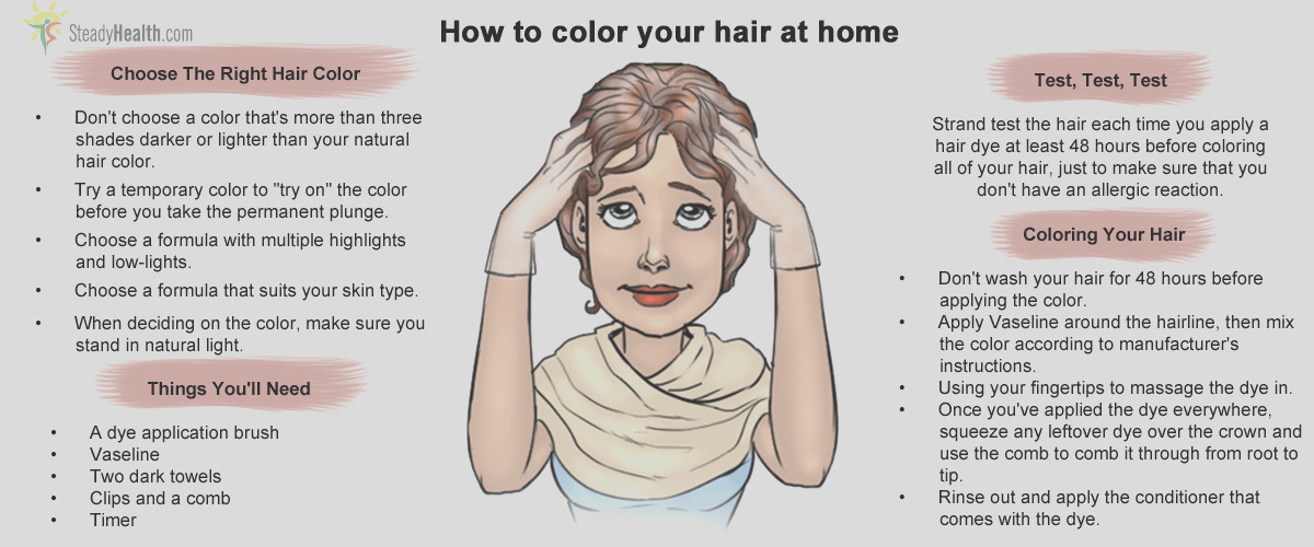 how to color your hair at home