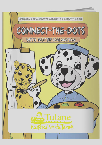 x promotional connect the dots coloring books