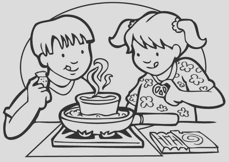 coloring page cooking i7141
