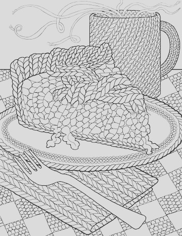 cupcakes cakes coloring pages for adults