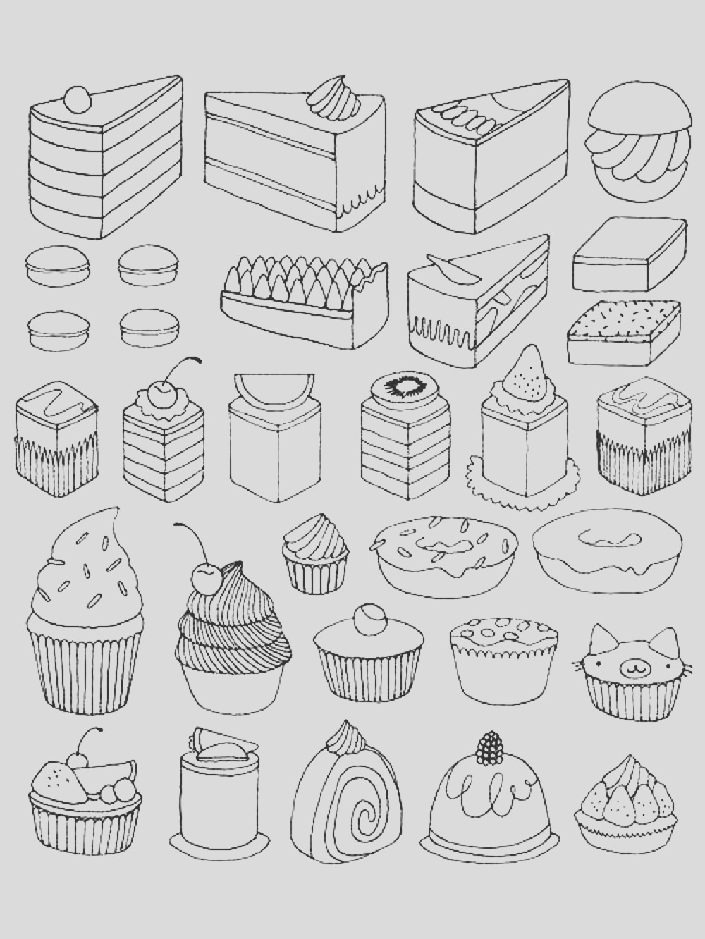 image=cup cakes coloring adult cupcakes and little cakes 1