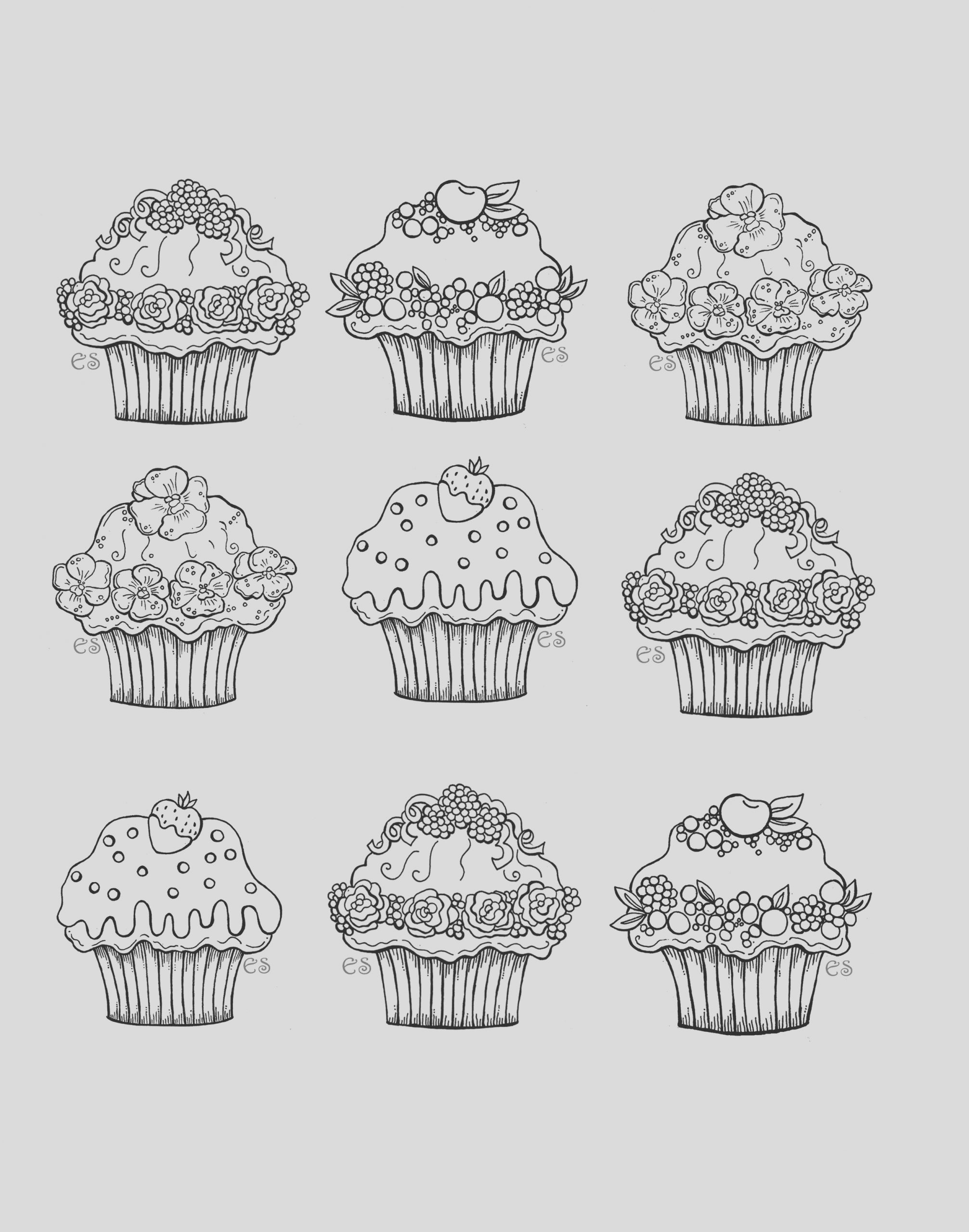 image=cup cakes coloring cute cupcakes 1
