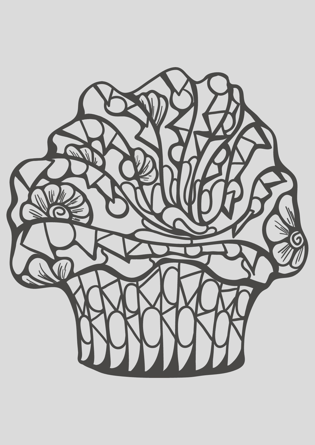 image=cup cakes coloring free book cupcake 7 1