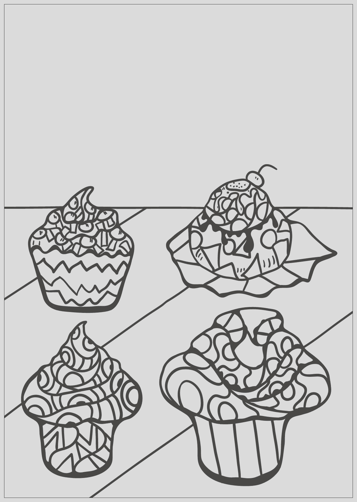 image=cup cakes coloring free book cupcake 8 1