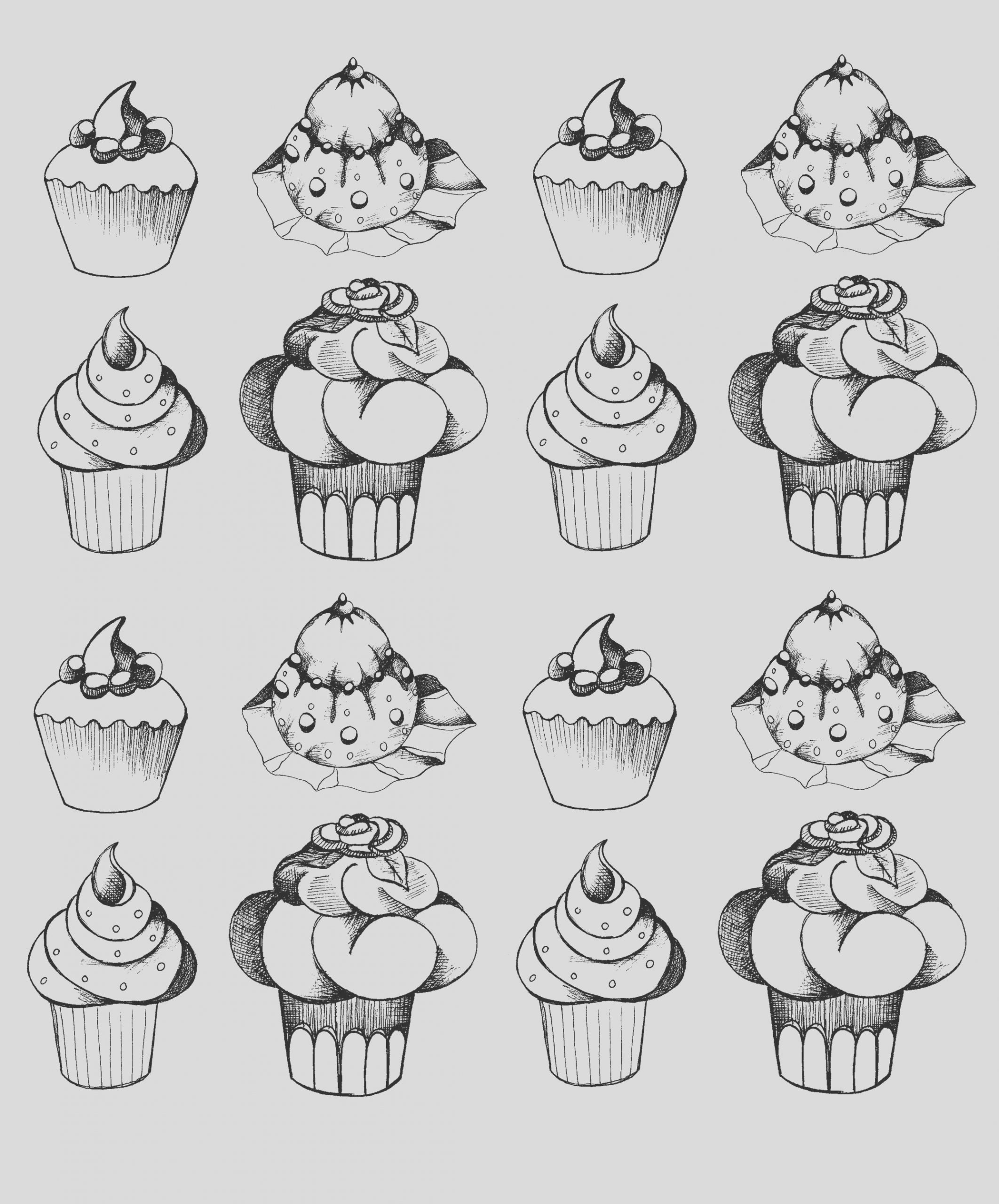 image=cup cakes coloring adult cupcakes oldstyle 1