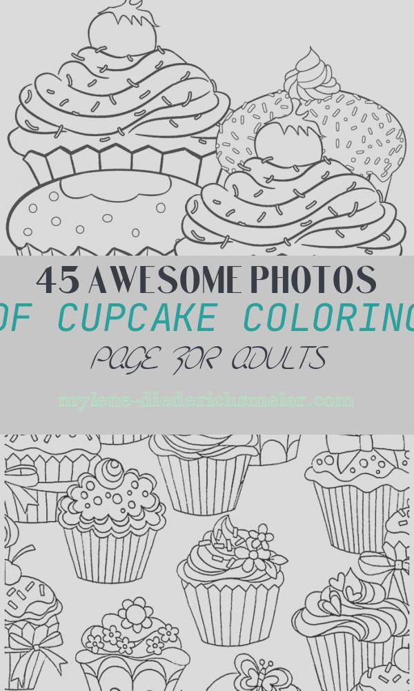 Cupcake Coloring Page for Adults New Free Printable Cupcake Coloring Pages for Kids