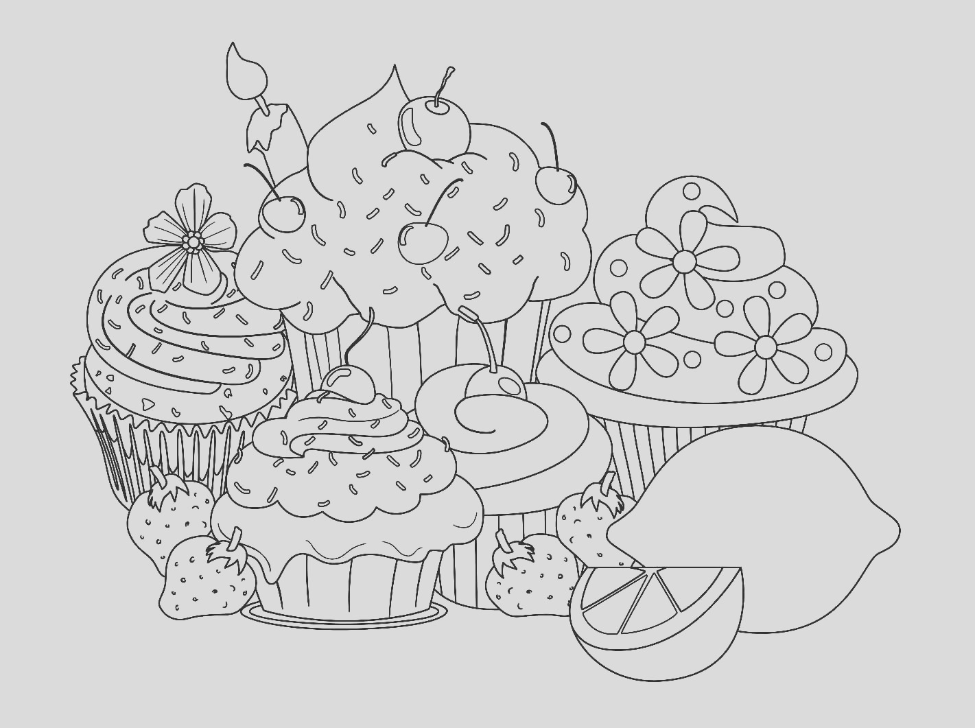 image=cup cakes beautiful sweet cupcake coloring pages 1