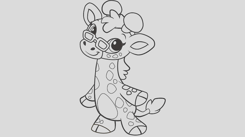 baby animal coloring pages giraffe