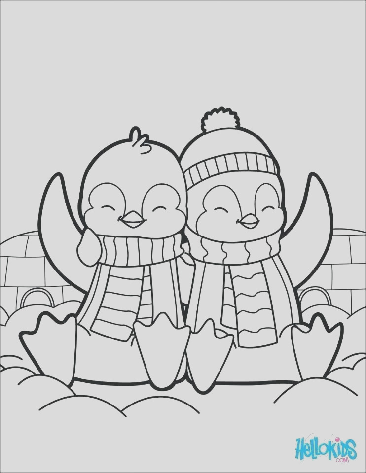 coloring pages of baby penguins