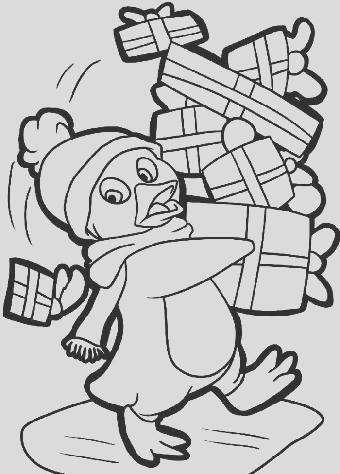 cute penguin coloring pages