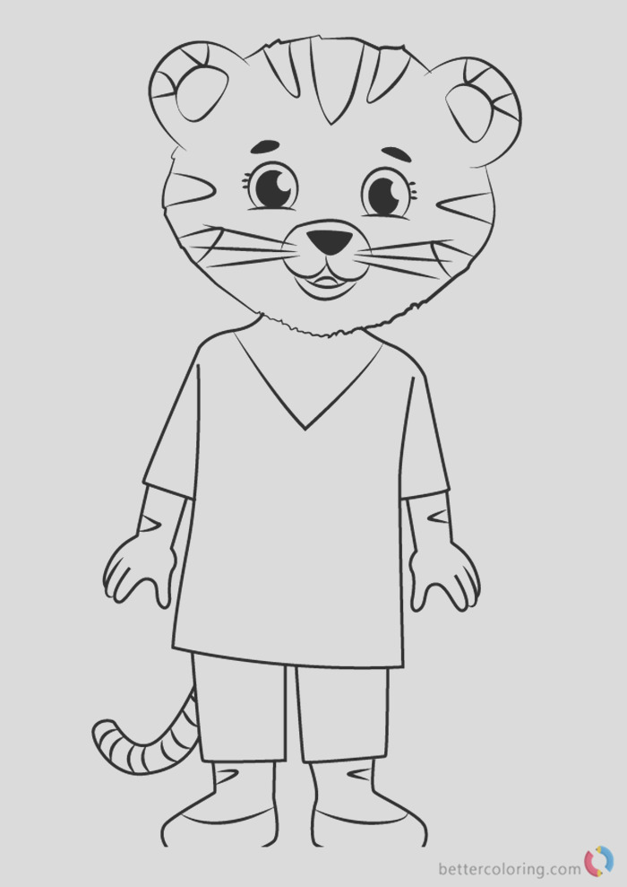 mom tiger from daniel tiger coloring pages