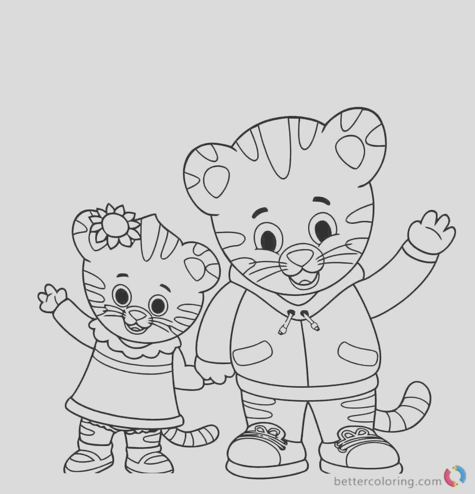 daniel tiger free coloring pages