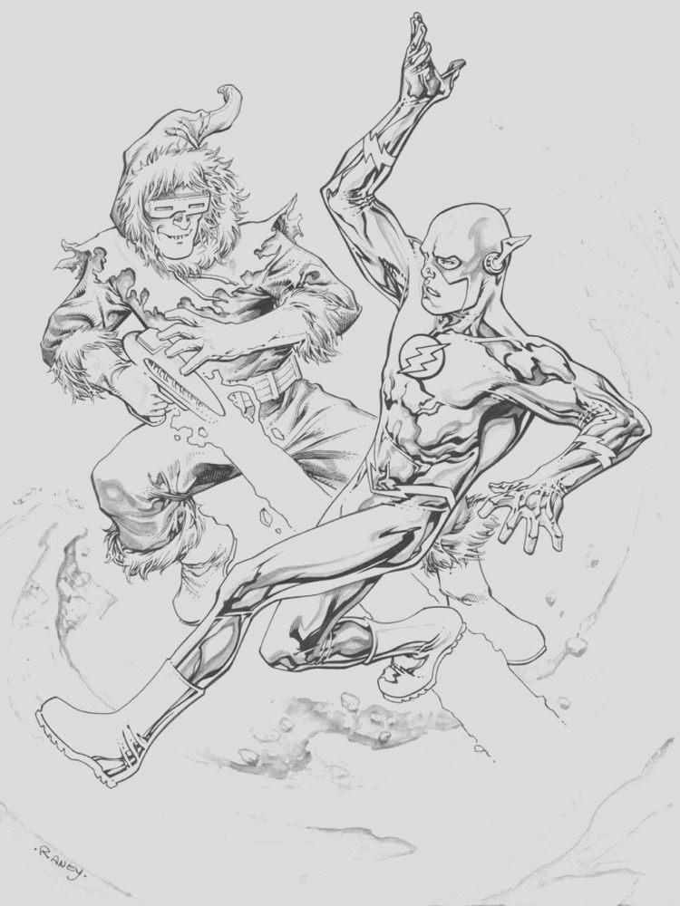 dc ics flash coloring pages