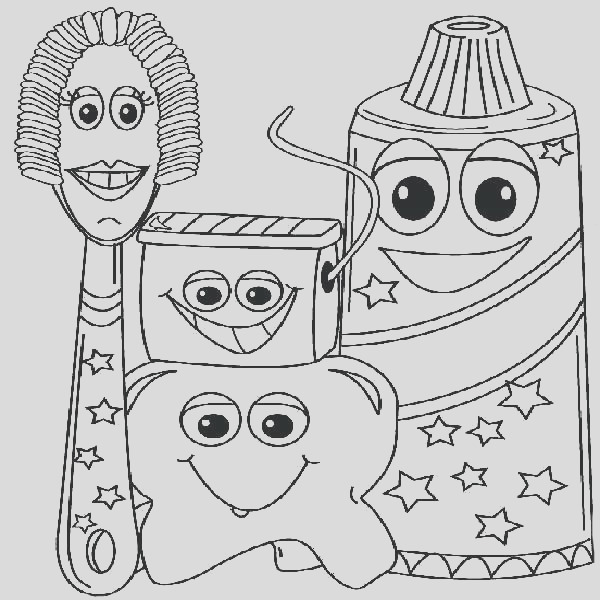 dental coloring pages printable