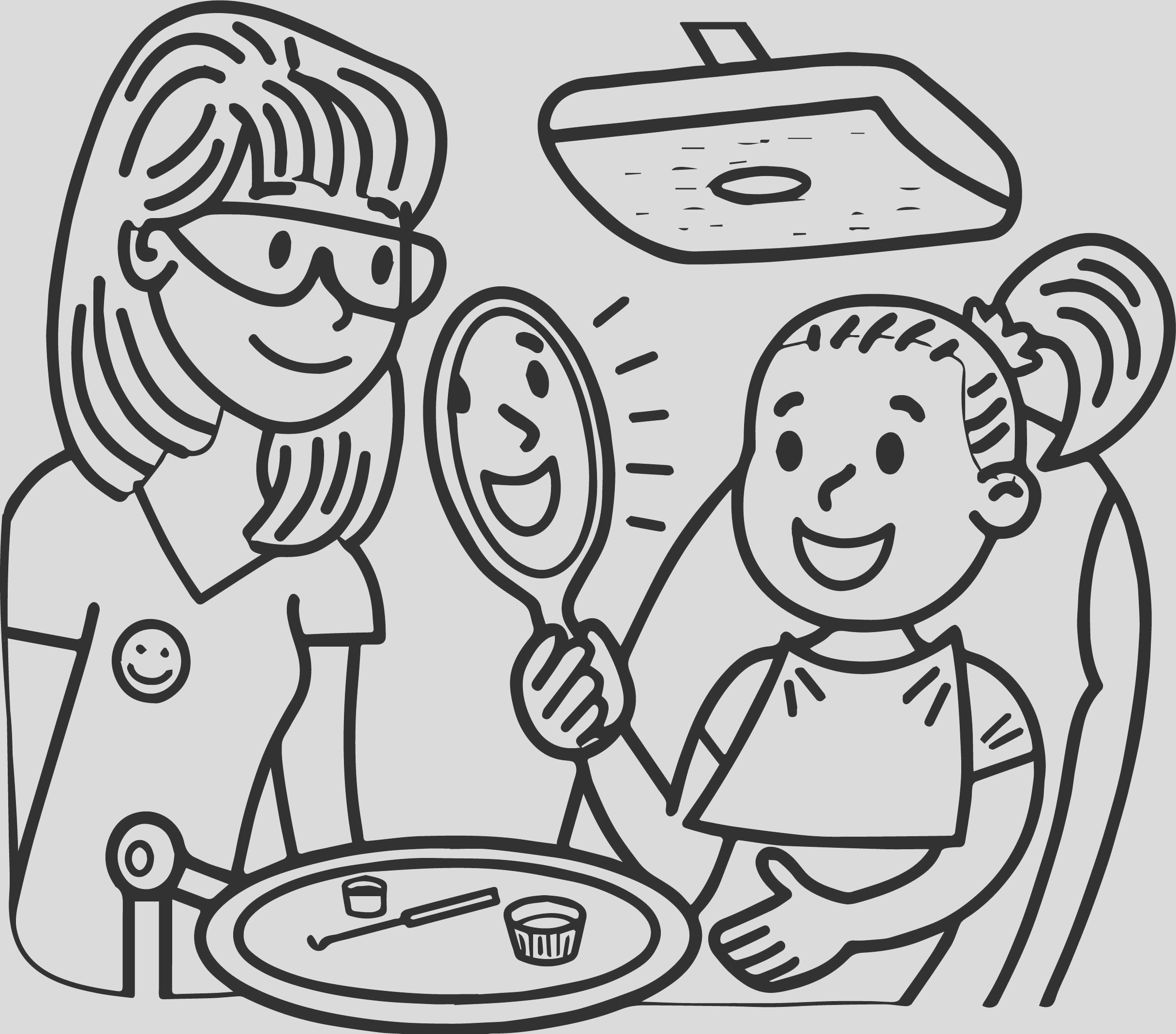 dental doctor girl perfect teeth coloring page