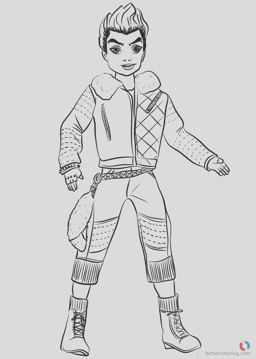 wicked world carlos from descendants 2 coloring pages printable for kids