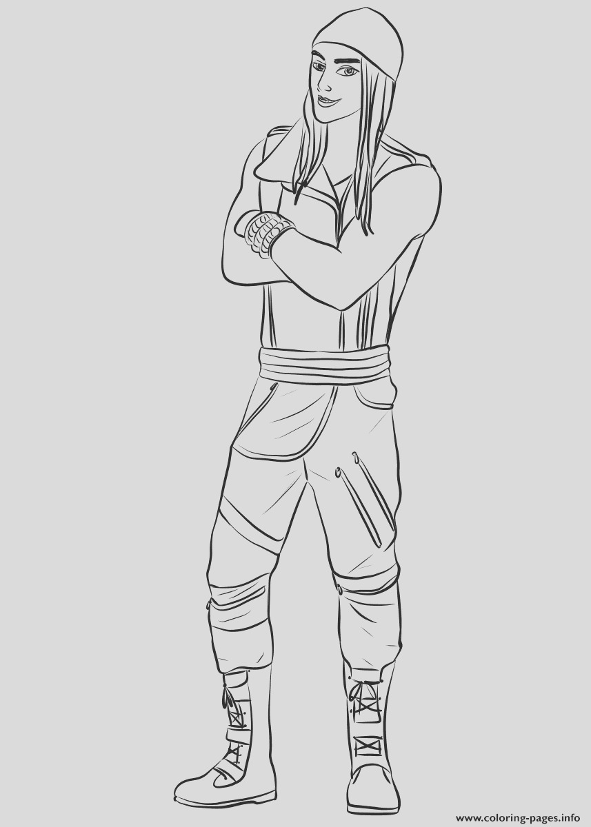 jay from descendants printable coloring pages book