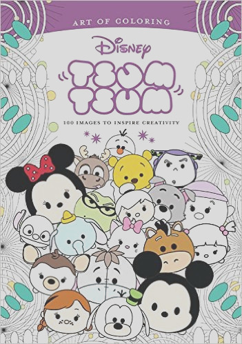 disney art therapy coloring book round
