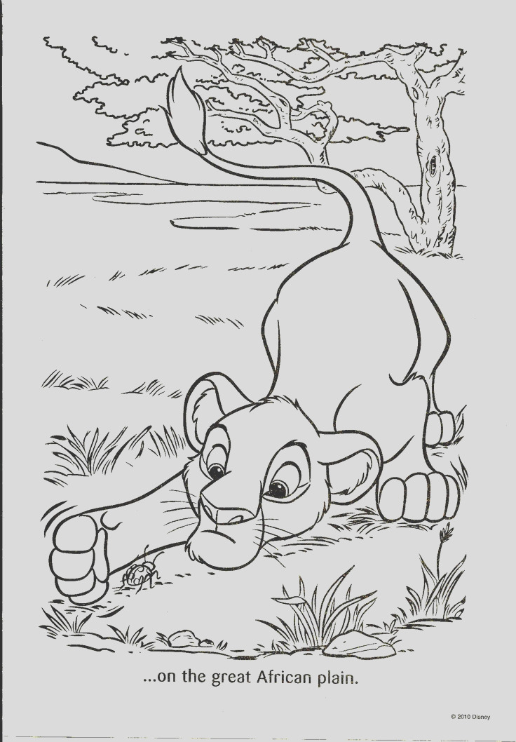 coloring pageslineart disney lion king