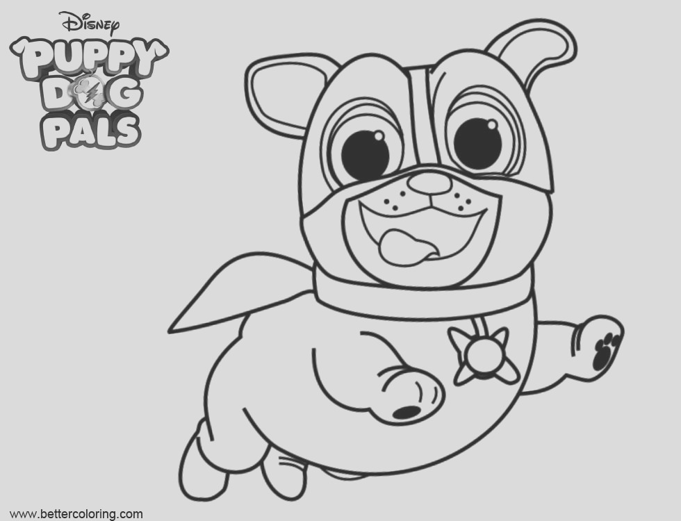 puppy dog bingo coloring pages super rolly