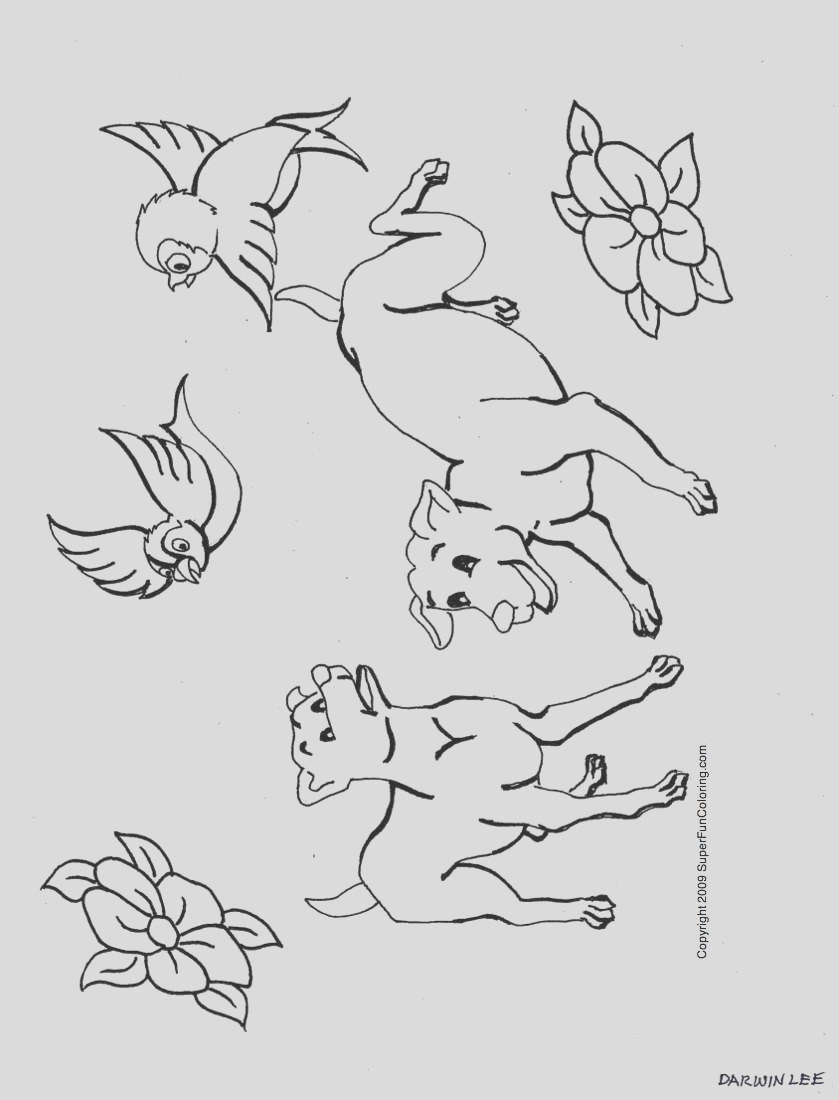 small dog coloring pages